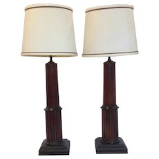 Pair of Regency Period Architectural Table Lamps