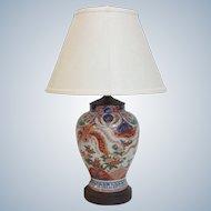 Antique Imari Vase  Lamp