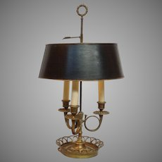 Antique Brass Bouillotte Lamp