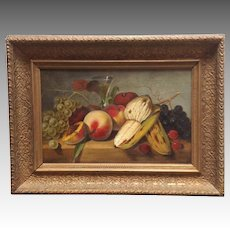 Still Life Painting with Fruit Circa 1859