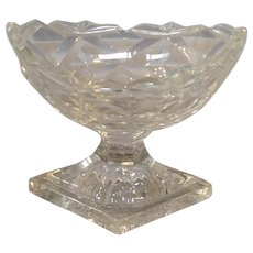 Open Master Salt Cut Glass Circa 1790