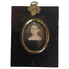 American Lady Miniature Painting 19th Century Tennesse