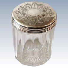 Sterling Top Dresser Jar England by Frances Douglas Circa 1845