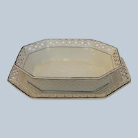 Wedgwood Creamware Berry Bowl and Underplate Early 1800's