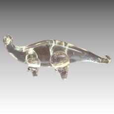 "Steuben Brontosaurus 13"" Clear Rare"