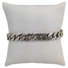 Heavy ID Bracelet Sterling
