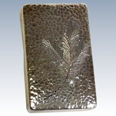 Silver Japanese Engraved Box 950