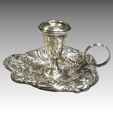 Gorham Sterling Chamberstick Small Floral
