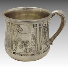Kerr Animals Child's Cup Sterling No Mono