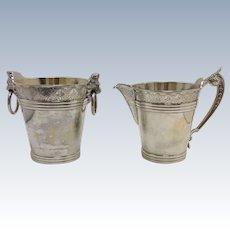 Coin Silver Cream and Sugar Duhme & Co Ohio 1850's