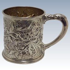 Whiting Repousse Child's Cup Sterling