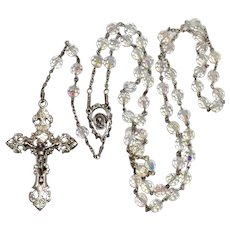 Rosary Austrian Crystal Beads Sterling