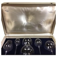 Set Moser Large Snifters Toasting Glasses Original Suitcase