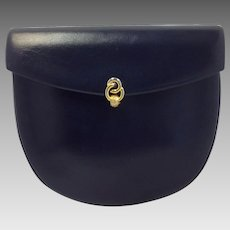 Morabito Navy Leather Purse 1 Place Vendome Paris