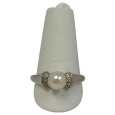 Diamond and Pearl Ring by Brogan