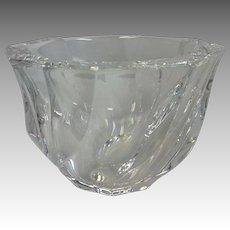Orrefors Sweden Swirl Glass Dish