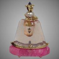 Rose Quartz Perfume Miniature 14 Karat