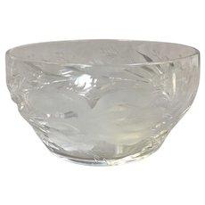 Pair Hawkes Satin Iris Fruit Bowl