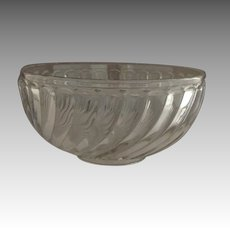 """Baccarat Clear Glass Bowl with Swirls 7"""""""