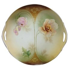 R.S. Prussia Flowers Cake Plate