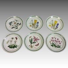 "Set of 6 Portmeirion Botanic Gardens Salad Plates 7 1/4"""