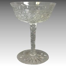 Plain Russian Pattern American Brilliant Period Glass Stem