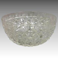 "Russian Pattern Cut Glass Bowl ABP 5 1/8"""
