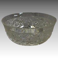 "Russian Pattern American Brilliant Period Cut Glass Bowl 4 7/8"""
