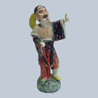 Old Chinese Polychrome Figure Late 19th Century
