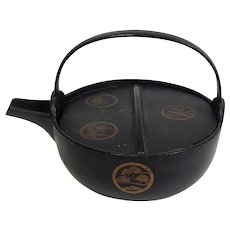 Japanese Iron and Lacquer Tea Kettle