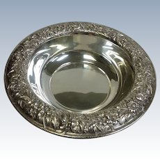 Kirk Repousse Sterling Round Vegetable Bowl 10""