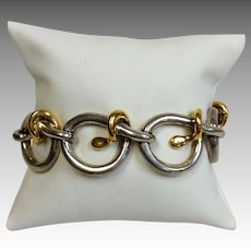 Tane Sterling Bracelet Gold Mid-Century Mexico