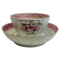 English Cup and Saucer 18th c.