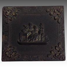 Daguerreotype in Gutta-Percha Case with Family