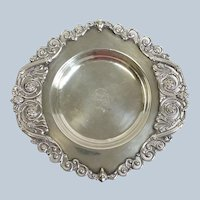 Whiting Wine Coaster Pierced Edge Sterling