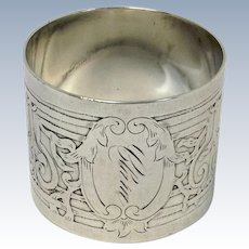 Art Deco  Simpson, Hall, Miller & Co. Sterling Napkin Ring Clara