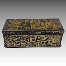 English Tole Match Box Bryant and May London 19th Century