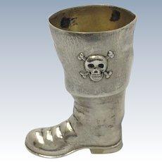 Pirate Jigger Blackinton Sterling Skull and Crossbones