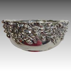 Whiting Sterling Silver Footed Hammered Bowl
