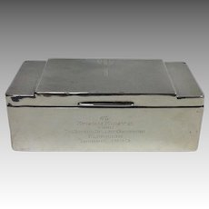 Presentation Sterling Box From the Russian Ballet Orchestra to Conductor 1933