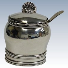 Sterling Mustard Pot Scottish by John Sterling English Spoon