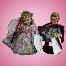 Madame Alexander Camelot Pair Dolls Queen Guinevere & Sir Lancelot #79550