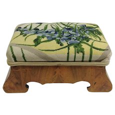 Biedermeier Inlayed Foot Stool 19th c.