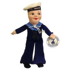 RMS Caronia Sailor Doll Norah Wellings RARE!