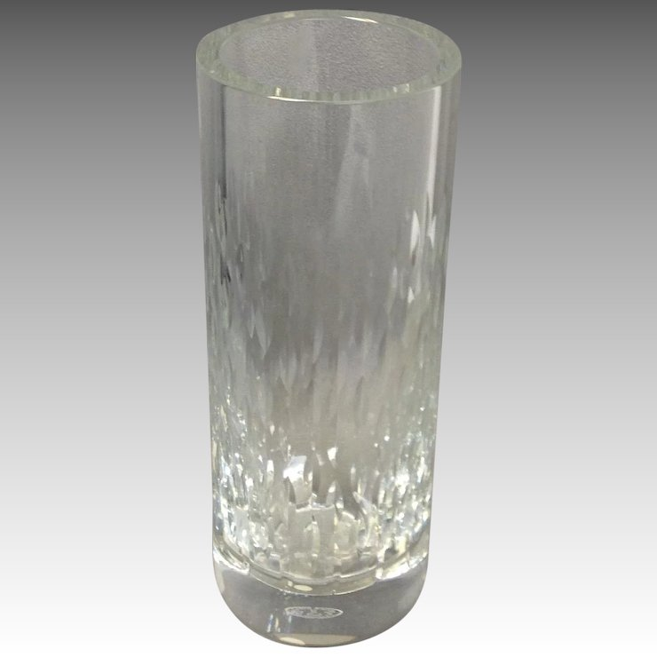 Baccarat Paris Clear Crystal Vase 7 78 Antiques Of River Oaks