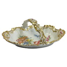 Pair Limoges Candy Baskets Rococo Hand Painted