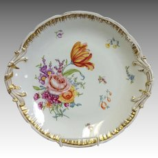 """Limoges Floral Hand Painted Charger 13 5/8"""""""