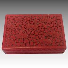 """Cinnabar Chinese Floral Box 6"""""""