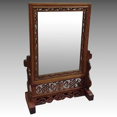 Chinese Table Mirror on Stand Removable