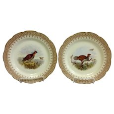 Pair Royal Worcester Game Plates